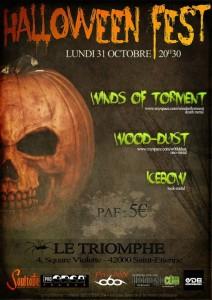 Concert metal avec Winds Of Torment le 31 octobre 2011 à saint-etienne,le triomphe