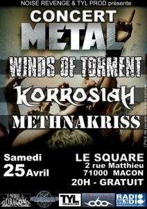 Concert metal Winds Of Torment à Mâcon