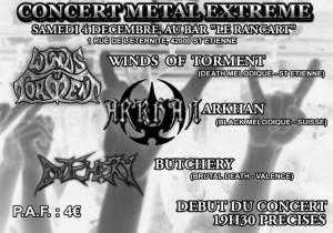 Concert métal de Winds Of Torment au rencart à St Etienne en 2004