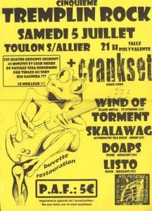 Concert metal de Winds Of Torment à Toulon sur Allier en 2003