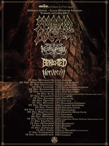 tournee de benighted avec morbid angel